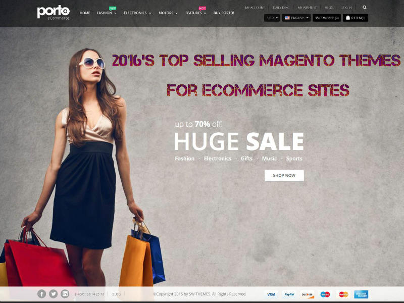 Top Selling Magento Themes